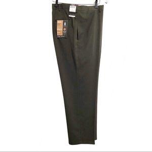Haggar, Look Sharp, brown dress pants. 42